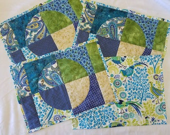Circle Patchwork Placemats (Set of 4)
