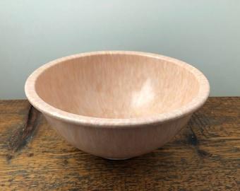 Vintage Texas Ware 118 Medium Pink and White Confetti Splatter Mixing Bowl - Speckled Large Bowl - Melmac Bowl - Melamine Bowl