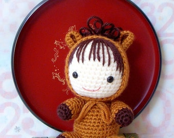 Amigurumi Pattern -  Zodiac Horse Baby - Crochet amigurumi doll tutorial PDF