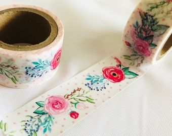 Cabbage Roses Washi Tape