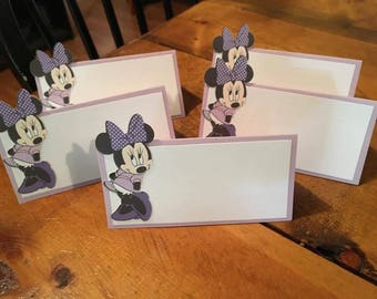 12 Disney Inspired Minnie Mouse Party Place Food Tent Cards