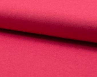 "Coral ""punto stretch"" plain jersey fabric"