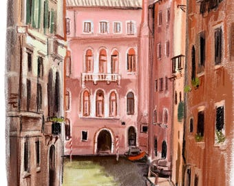 "Art print ""Venice"" by painting by Antonia Sanker"
