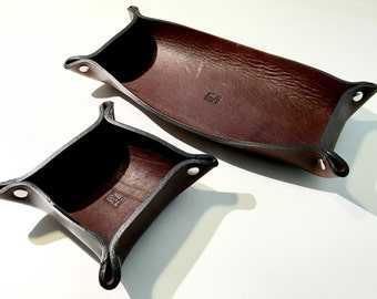Personal Leather Valet Tray