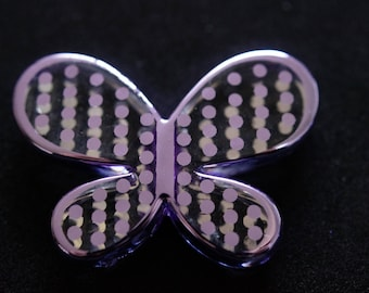 Butterfly purple Silver clear