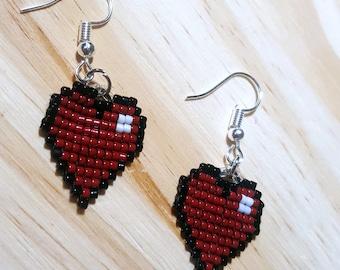 Pixel Heart earring