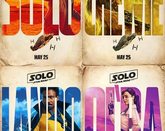 Star Wars SOLO Movie posters (FREE SHIPPING)