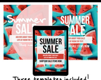 Summer Sale Email Template (3 Versions Included)