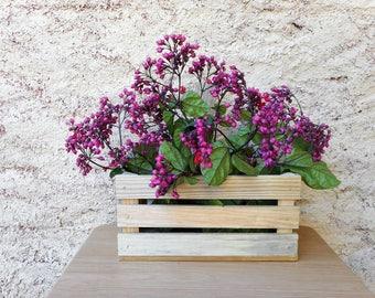 Wood Planter, Crate Planter, Wooden Planter Box, Hanging Planter, Rustic Planter, Garden decor, Pot de fleurs