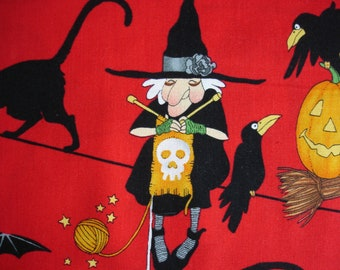 KNITTING BAG APRON - Alexander Henry Rare Fabric Life's A Witch - Allow 3 weeks for delivery