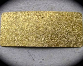 """Floral Paisley Pattern 2.5"""" x 6"""" Brass Texture Plates"""