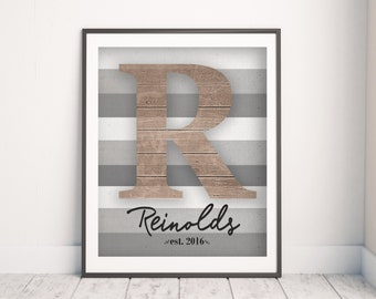 Personalized Family Print   Family Name Wall Art   Living Room Decor    Family Name Gift
