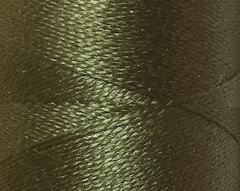 Olive, Silk Machine Threads, 100% Mulberry Silk, Plain Dyed, Luxury Silk Threads, Spun Silk, Solid Colours, 300m, 325yds