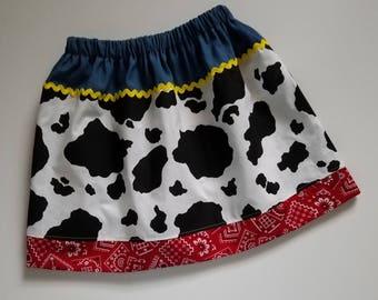 Jessie Skirt, Cowgirl Skirt, Toy Story Skirt, Jessie Birthday, Cow Skirt, Farm Birthday Party, Jessie Dress, Kids Clothes, Girls Skirt