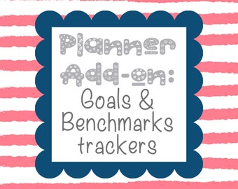 TEACHER PLANNER- Add-on- Goals and Benchmarks Tracker// Student Data Tracker