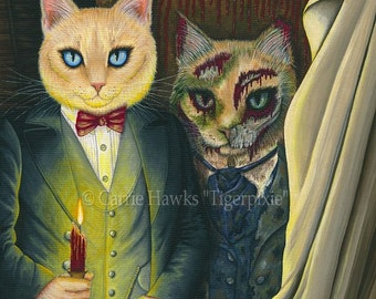 Dorian Gray Cat Art Cat Painting The Picture Of Dorian Gray Gothic Cat Art Oscar Wilde Literary Cat ACEO / ATC Mini Print Cat Lovers