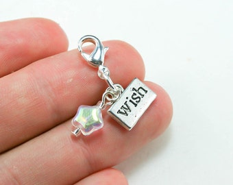 Make a Wish Charm. Star Charm for Birthdays. Wish Charm. Wish Upon a Star. SCC234