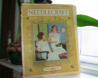 1921 Needlecraft Magazine January Issue with Great Cream Of Wheat Ad Vintage 1920s Sewing