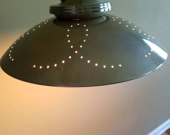 Customized, Mid Century Saucer Lamp Restored