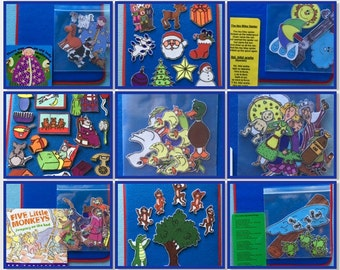 Felt Board Story Pack *ALL IN ONE*  Includes pre-cut felt set,  Storytelling Lap Board & book/ or story sheet