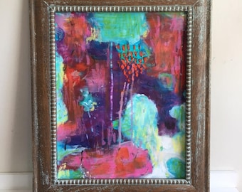 """Small 11x14 Abstract Painting - Original Acrylic Art on Paper """"As it Should Be"""""""