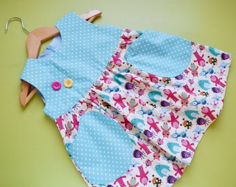 YUMMY Baby Girl Dress sewing pattern Pdf, Overall Jumper Pinafore pattern,  newborn 3 6 9 12 18 months 1, 2, 3, 4 years Instant Downlad