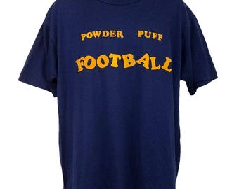 Powder Puff Football T Shirt Vintage 90s Electrifying Elvira 1993 Made In USA Mens Size XL