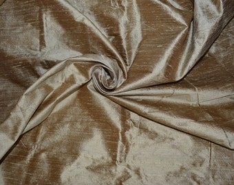 Silk dupioni in  Very Pale Vegas Gold,Extra wide  54 inches , Half yard, DEX  87