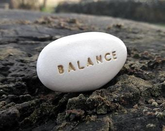 BALANCE - Ceramic Message Pebble