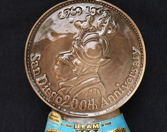Vintage Jim Beam Centennial Whiskey Decanter 1868 - 1968