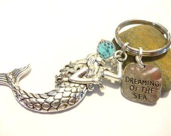 Mermaid, Mermaid Keychain, Mermaid Gift, Ocean Keychain, Beach Keychain, Summer Accessories, Mermaid Accessory