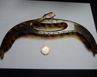 Purse Frame, tortoise-shell lucite, antique, French