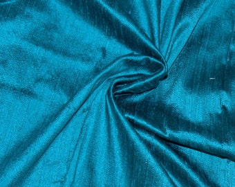 Silk Dupioni in Steel Blue with Black shimmers,Fat Quarter, D - 251.