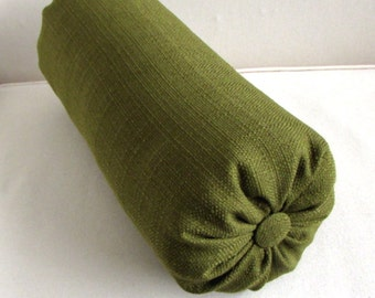 MEDINA OLIVE accent throw bolster pillow 6x14 6x16 6x18 6x20 6x22