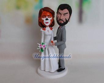 Wolverine wedding cake topper, Wolverine, Wolverine bobbleheads, Wolverine fans, superhero cake topper, superhero bobbleheads, cartoon