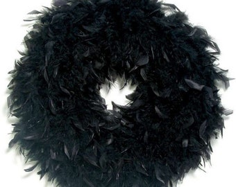 Quality Black Feather Wreath