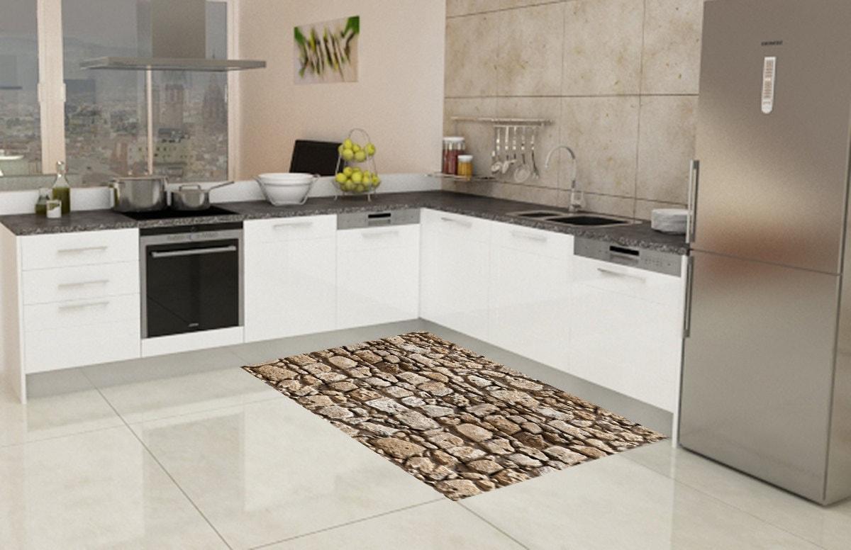 Vinyl floor mat area rug kitchen rug Doormat pvc rug