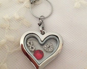 Floating charm locket Heart.