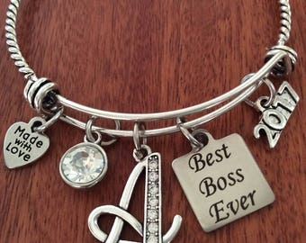 Best BOSS Ever Gift, Bosses Jewelry, Boss Bracelet, Best Boss Bracelet, Best Boss Ever Jewelry, Boss Gift, Unique Gifts For Boss Boss Bangle