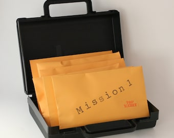One Time Mailing of Six Top Secret Agent Spy Missions with Briefcase -- Ultimate Science Spy Kit