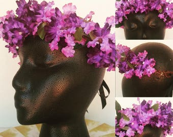 Purple Wisteria Flower Crown (Adult)