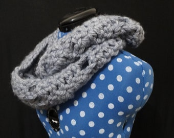 Super chunky grey knit scarf | grey winter scarf | oversized scarf