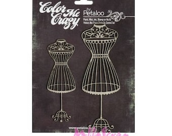 "Model ""petaloo"" embellishment cardmaking scrapbooking chipboard *."