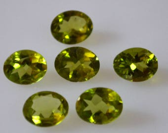 8x10 Natural oval peridot  faceted high quality gemstone