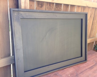 "28"" x 40"" Rustic Framed MAGNETIC Chalkboard, Rustic Wedding Chalkboard, Kitchen Menu, Menu Board, Rustic Frame"