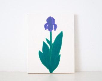 IRIS - Ivory & Purple PAINTING - Iris Painting - Flower Art - Purple Iris - Purple Irises - Flower Painting - Flower Print - Iris Print