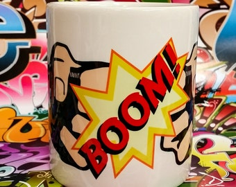 Boom Comic Superhero Fist Bump Mug! Tea or Coffee Fistbump Comic book fan!