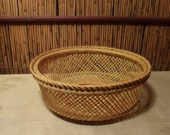 Vintage Japanese Bamboo Basket