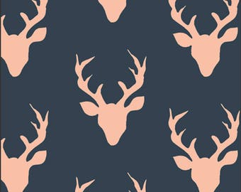 Buck Forest Woodlands designed by Bonnie Christine for Art Gallery Fabrics, Boho Fabric, Floral Fabric