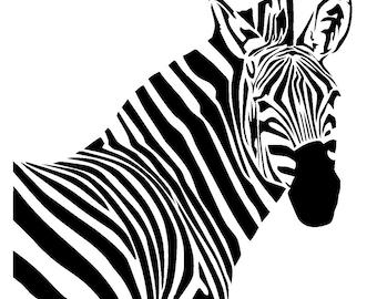 "6/6"" zebra stencil 1."